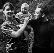 1963: Людмила, Владимир и сын Аркадий